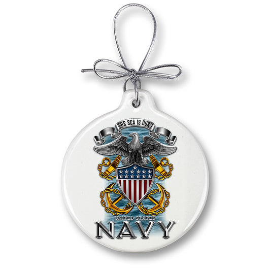 Navy Full Print Eagle Ornament