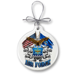 DOUBLE FLAG AIR FORCE EAGLE Ornament