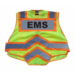 EMS UltraBright 6-Point Breakaway Public Safety Vest Orange