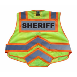 SHERIFF UltraBright 6-Point Breakaway Public Safety Vest Orange