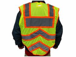 BLANK UltraBright 6-Point Breakaway Public Safety Vest FIRE ORANGE