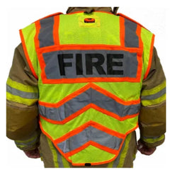 FIRE UltraBright Orange 6-Point Breakaway Public Safety Vest