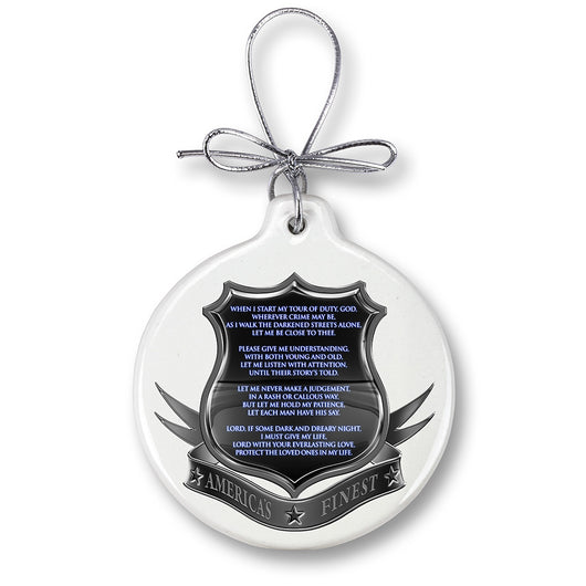 Policeman's Prayer Ornament