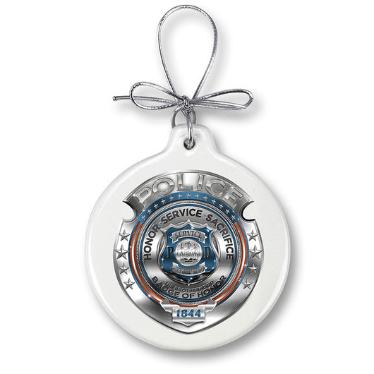 Police Honor Courage sacrifice badge Ornament