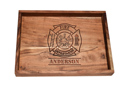Personalized Fire Department Maltese Bar Serving Tray