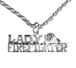 Silver Lady Firefighter Charm