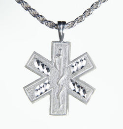 Silver Star of Life Charm