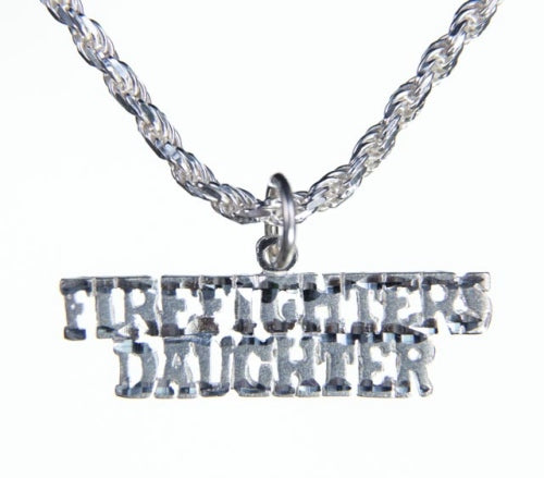 Silver Firefighters Daughter Charm