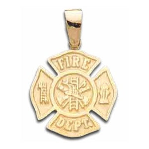 Gold Fire Dept Maltese Charm