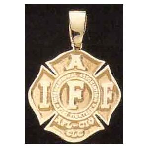 IAFF Maltese Cross Charm- AFL/CIO