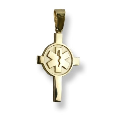Gold EMS Cross Charm