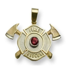 Fire Rescue Garnet Maltese Charm