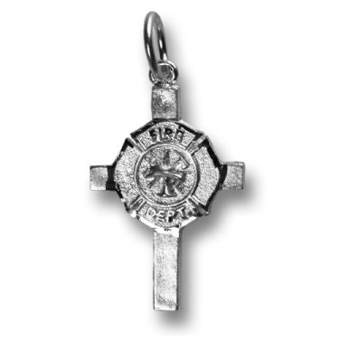 Silver Cross with Maltese Charm