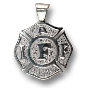 Large Silver IAFF Charm