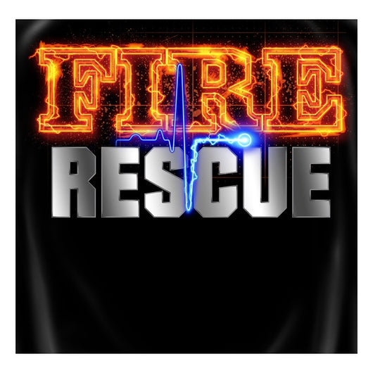 Black Fire Rescue Fire Shirt