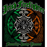 Irish Firefigher Family Duty Honor T-shirt