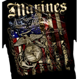Marine Flag & Helicopter T-shirt