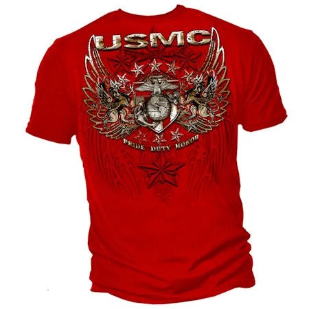 USMC Pride Duty Honor Foil T-shirt