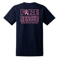 Fire Rescue Never Give Up The Fight T Shirt