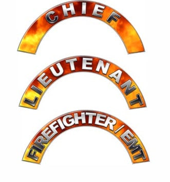 All Positions Fire Helmet Crescent Decals