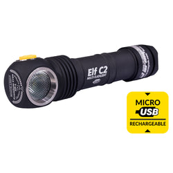 ArmyTek Elf C2 XP-L Micro-USB 18650Li-Ion White Flashlight