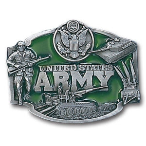 Army Pewter Belt Buckle