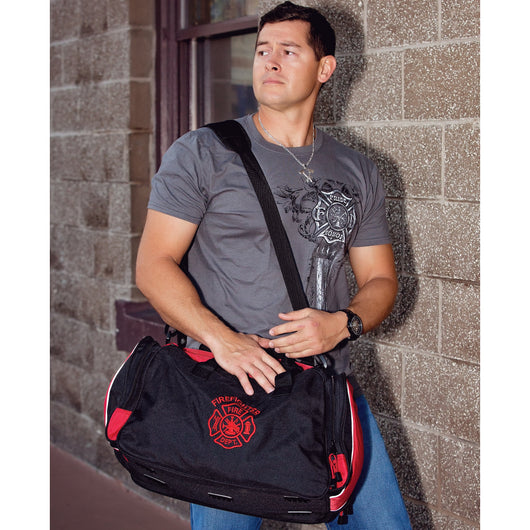 Firefighter Embroidered Duffle Bag
