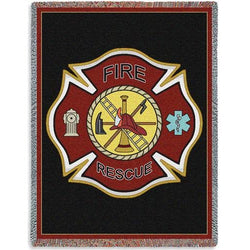 Firefighter Maltese Throw