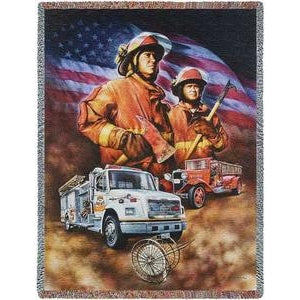 Firefighter Collage Throw