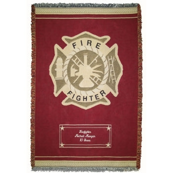 Customized Fire Dept Throw