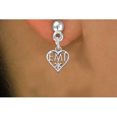 EMT Heart Earrings