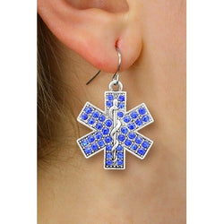 Star of Life Crystal Earrings