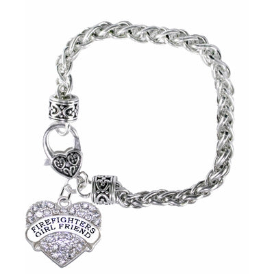 Firefighter Girlfriend Heart Bracelet