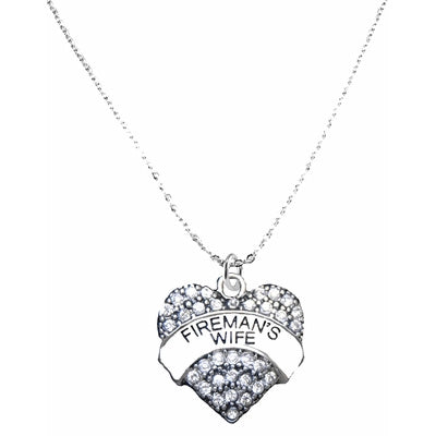 Firemans Wife Heart Necklace