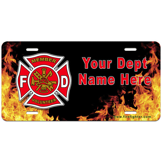 Personalized Volunteer License Plate
