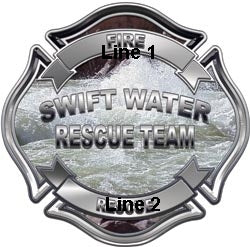Custom Swift Water Rescue Decal