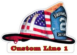 Custom Flag Helmet Decal