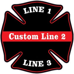 Custom Thin Red Line Decal