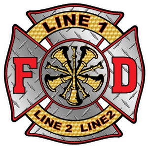 Custom Fire Chief Diamond Decal