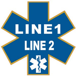Custom Star Of Life Decal