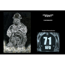 Personalized Firefighter VENT Print