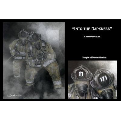 Personalized Into The Darkness Fire Print