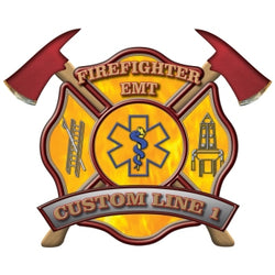 Custom Rank Decal - Firefighter EMT