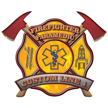 Custom Rank Decal - FF Paramedic