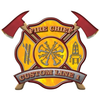 Custom Rank Decal - Fire Chief