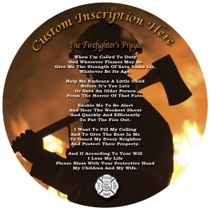 Customized Firefighter Prayer Plate
