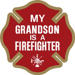 My Grandson is a Firefighter Decal