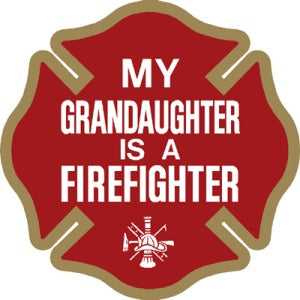 My Granddaughter is a Firefighter Decal