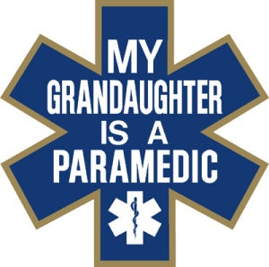 My Granddaughter is a Paramedic Decal