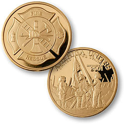 Merlin Gold America Unites Twin Towers Coin